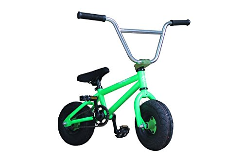 R4 Pro Mini Bmx Bicycle Trick Jump Freestyle with Pegs, Monster Green -  R4GREENmini