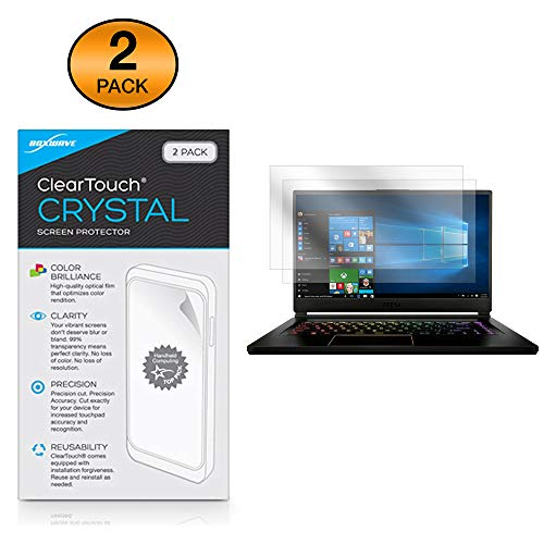 MSI GS65 Stealth Thin Screen Protector, BoxWave [ClearTouch Crystal (2-Pack)] HD Film Skin - Shields from Scratches for MSI GS65 Stealth Thin