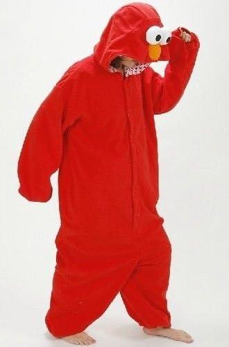 Elmo, S Adulto Unisex Mostro di Biscotti Elmo Sullivan Drago puffo onesie KIGURUMI VESTITO carnevale COSTUME stravagante felpa con cappuccio Pigiama regalo di Natale height 150cm-160cm