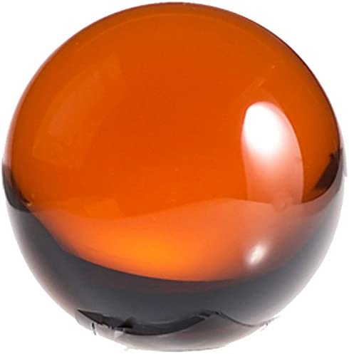 Amlong Crystal Amber Crystal Ball 50mm 2 in. Including Wooden Stand and Gift Package