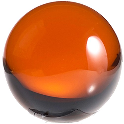 - Amlong Crystal 2 inch (50mm) Amber Crystal Ball ONLY - No Stand