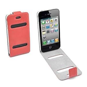 Funda con tapa de color rojo para Apple iPhone 4