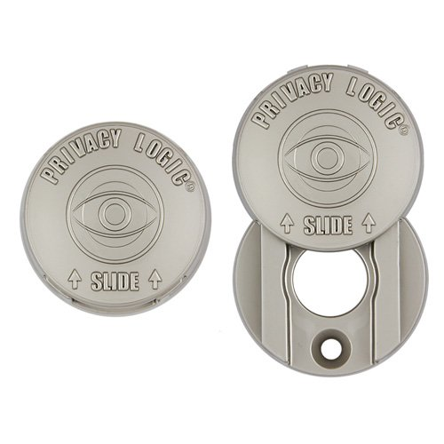 Speyeguard Stationary Peephole Cover-PL-Satin Nickel-Glossy-Plated Metal Finish