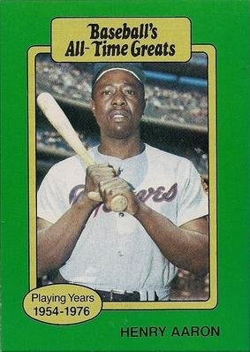 1987 Hygrade All Time Greats Hank Aaron Baseball Card At