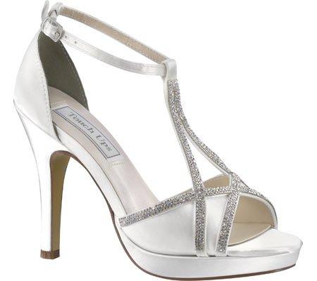 Touch Ups White T Women's Harlow Satin Strap Sandal Platform aFqrawxz