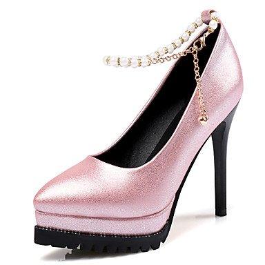 Talones de las mujeres Primavera Verano Otoño Club de los zapatos de gamuza oficina y carrera Fiesta y Noche Tacón de Aguja vestido de la borla Negro Rosa Gris Caminar Sliver