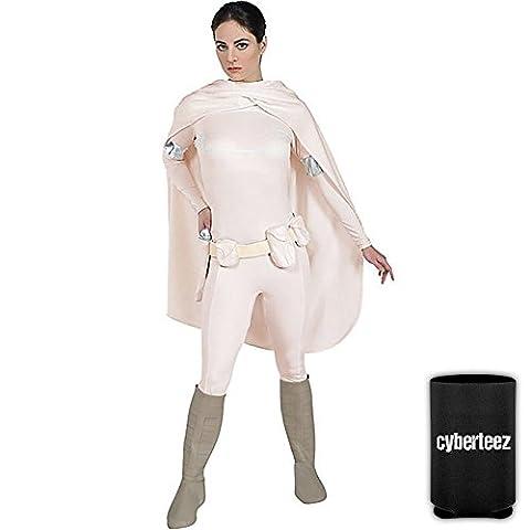 Star Wars DELUXE Padme Amidala Womens Adult Costume + Coolie (L) - Adult Padme Amidala Costume
