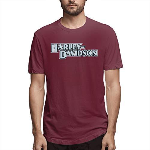 (BAIXRU Fashion Davidson T Shirt for Mens Burgundy 35)