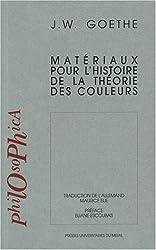 Matériaux pour l'histoire de la théorie des couleurs