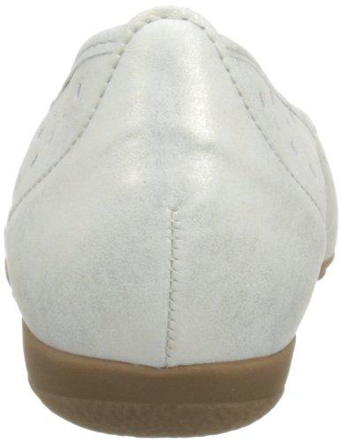 Gabor Ruffle L - Bailarinas de cuero mujer Plata - Silver Shimmering