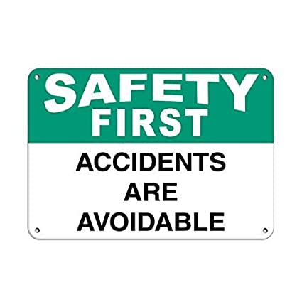 amazon com chengdar732 metal art safety first accidents are