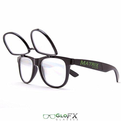 Negros intensos vidrios del Partido del delirio GloFX Matrix Vasos de difracci/ón Dobles