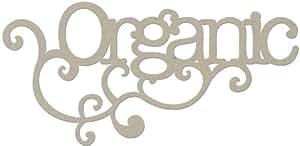 "Grey Chipboard Words Organic - 3.25"" x 7"" 1 pcs sku# 1041744MA"