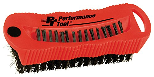 Performance Tool W9163 Utility and Fingernail Brush with Magnet / Scrub Brush