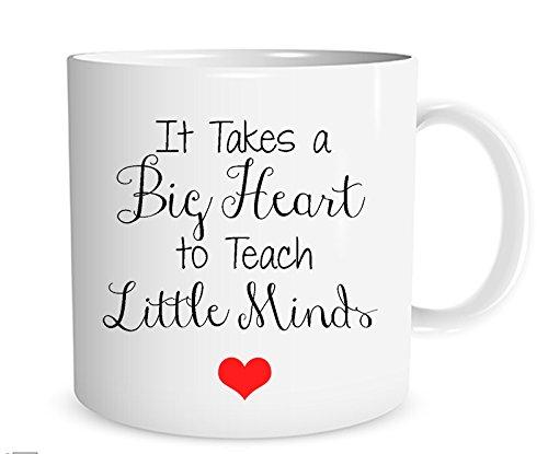 Takes Mug - It Takes a Big Heart to Teach Little Minds Mug, Teacher Christmas Mug, Christmas Teacher Gift, 11 oz. Mug