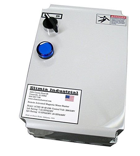 Elimia Air Compressor Motor Starter, 15 HP, 230V, Nema 4X, 37-50 Amp Overload, Made in USA ()