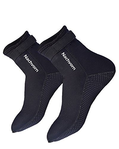Nachvorn Wetsuits Socks Premium 3mm Neoprene Water Fin Socks for Beach Swim Surf Yoga Exercise Sand Activities