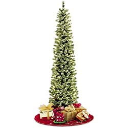 Pencil Slim Christmas Tree 7ft Soft Feel Touch with Stay Lit Lights ... FAST SHIPPING !