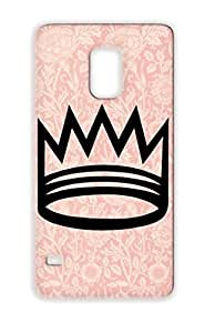 Crown Queen King Symbols Shapes Royal Royalty TPU Black Case Cover For Sumsang Galaxy S5 King Crown