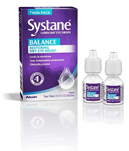 Systane Balance Lubricant Eye Drops, Restorative Formula, Twin pack, 0.33 Fluid Ounce