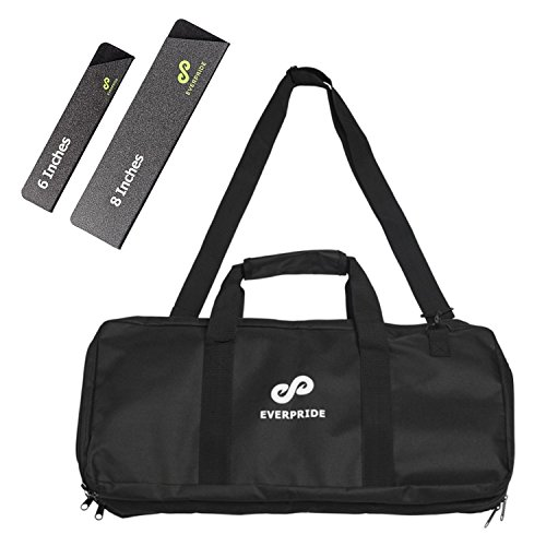 Knife Bag for Chefs w/Shoulder Strap by EVERPRIDE   Premium Culinary Knife Bag   Includes 2 Knife Guards   Durable Kitchen Utensils Holder   Knives Protector w/20 Pockets & 3 Zipper Compartments