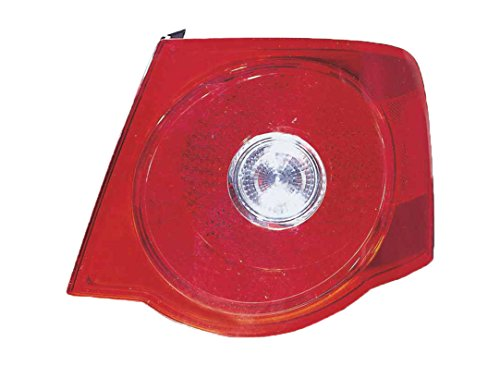 (Depo 341-1923R-AF6 Volkswagen Jetta Passenger Side Tail Lamp Assembly with Bulb and Socket (NSF Certified))