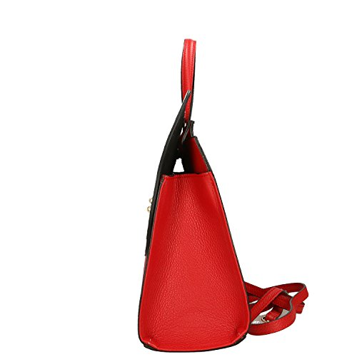 Vera Borsa Cm Handbag italy Beige Made in Borse Rosso Pelle Chicca in 32x28x13 Mano a qEYnBf