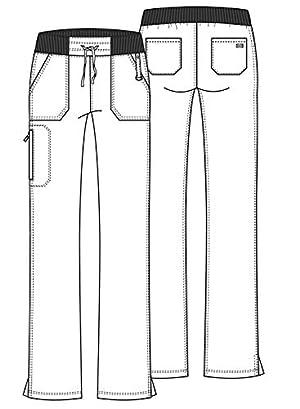 Dickies Xtreme Stretch Mid Rise Straight Leg Drawstring Scrub Pant, XL Petite, Hot Pink (Color: Hot Pink, Tamaño: X-Large Petite)