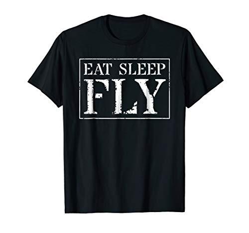 (Pilot T Shirt Gift: Eat Sleep Fly)