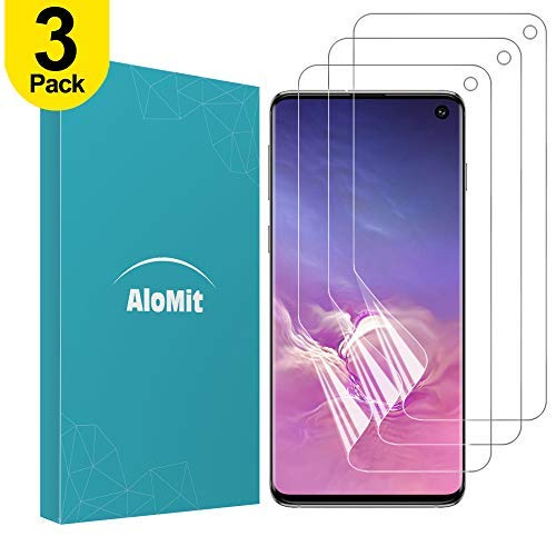 AloMit Samsung Galaxy S10 Screen Protector [3-Pack] [Support Fingerprint Sensor] [NOT for S10+][Case Friendly] [Bubble…