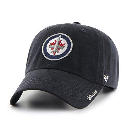 Jets Winnipeg Hat - '47 NHL Winnipeg Jets Women's Miata Clean Up Adjustable Hat, One Size, Navy