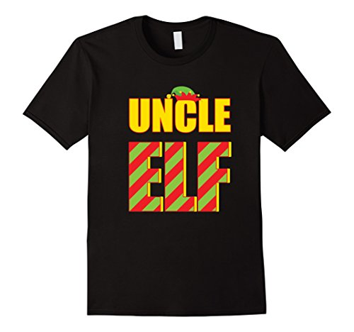 Mens Uncle Elf Family Pajama Outfit Matching Shirt Christmas Gift Large Black