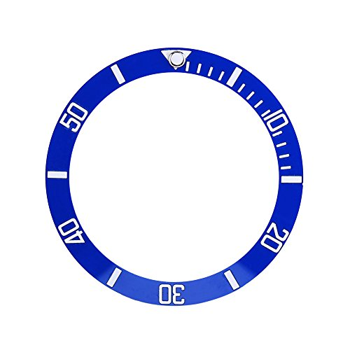 Watch Replacement Parts, Wristwatch Plastic Material Loop Bezel Insert Ring(Blue)