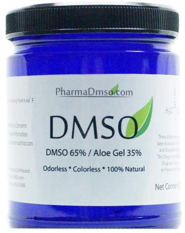 DMSO Gel 65 DMSO 35 Aloe Vera Gel 4 Ounce BPA Free Jar