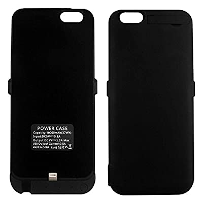 iPhone 6/6S Battery Charger Case, 5200mAh - Cell Phone Battery Pack, Back Up Power Bank, Portable Charging Case for iPhone6 6S -Black by Generic