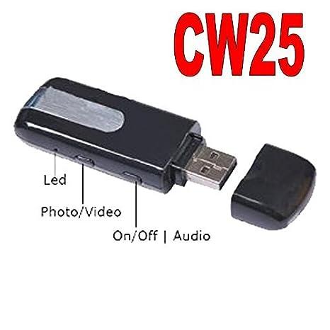 PENDRIVE cámara oculta Mini cámara USB U8 Spy cámara espía transmisor fotos CW25: Amazon.es: Bricolaje y herramientas