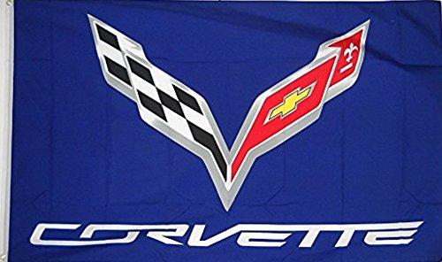 Corvette Blue Car Flag 3' X 5' Indoor Outdoor Banner