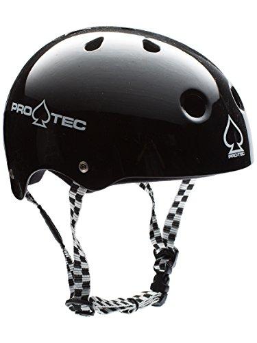 Pro-Tec Classic Skate Non-Certified Soft Foam Black Checker L (Black Classic Snowboard)