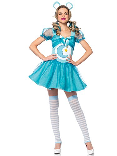 Leg Avenue Women's Care Bears 2 Piece Bedtime Bear Costume, Light Blue, (Care Bears Halloween Costumes Adults)