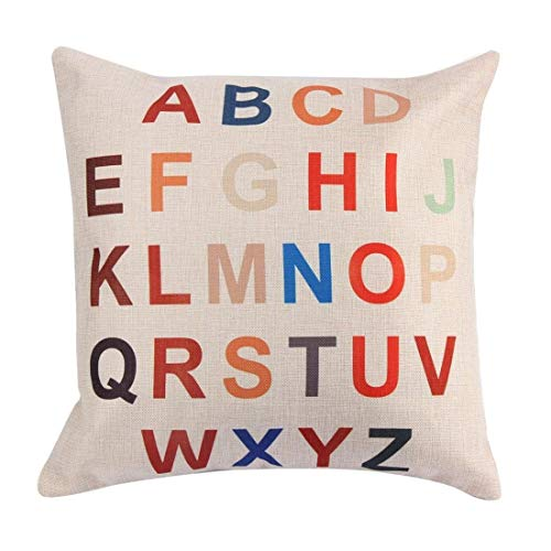 (Pillow Case - Fashion Pillowcase Waist Pillow A B C D 26 Letters - 16x16 Liner Draw Personalized Collection Moon Brown Markers Easter Cases Sweat Spring Color Know Name Egyptian Rustic Queen)