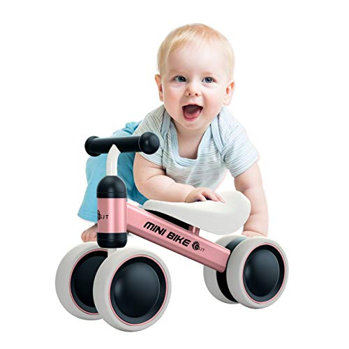 YGJT Baby Balance Bikes Bicycle Baby Walker Toys Rides for 1 Year Boys Girls 10 Months-24 Months Baby's First Bike First Birthday Gift Pink