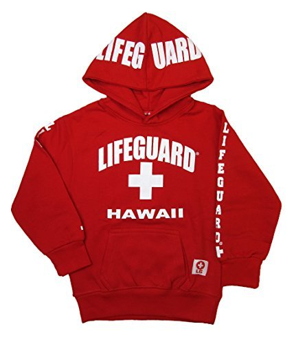Maui Clothing Officially Licensed Lifeguard Hawaii Kids Pullover Hoodie (X-Small)