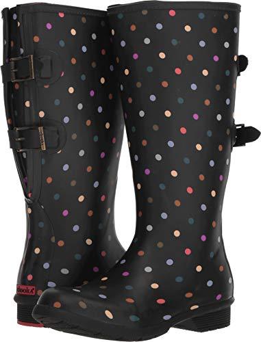 - Chooka Women's Wide Calf Memory Foam Rain Boot, Multi dot, 8 M US