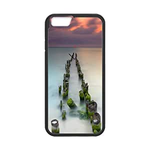 Yearinspace Art bridge in the forest iPhone 6 Plus Cases Broken Bridge For Guys Design, Luxury Case For Iphone 6 Plus Case, {Black}