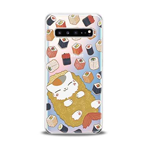 Lex Altern TPU Case for Samsung Galaxy s10 5G Plus 10e Note 9 s9 s8 s7 Sushi Cute Clear Kawaii Cover Cat Silicone Food Print Protective Durable Design Translucent Kids Girls Women Pattern Fish Kitten]()