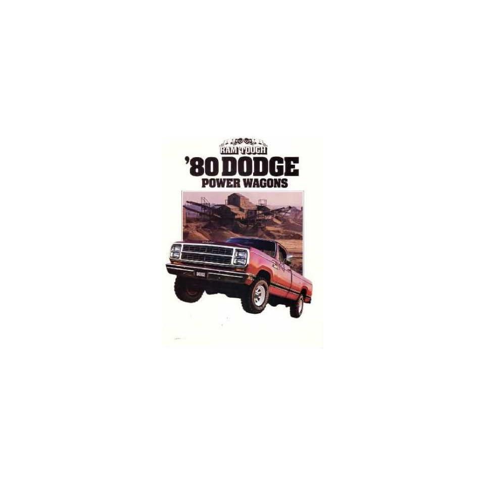 1980 Dodge Power Wagons Sales Brochure Literature Book Advertisement Options