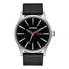 The Nixon Sentry Men's Watch A105-000 has high-quality calfskin strap to ensure high wearing comfort. The specified test pressure (water tightness) is 10 ATM, and ensures good everyday usability. A scratch-resistant mineral crystal, hardened ...
