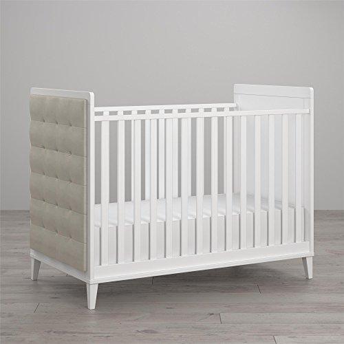 - Little Seeds Monarch Hill Avery Upholstered Crib, White
