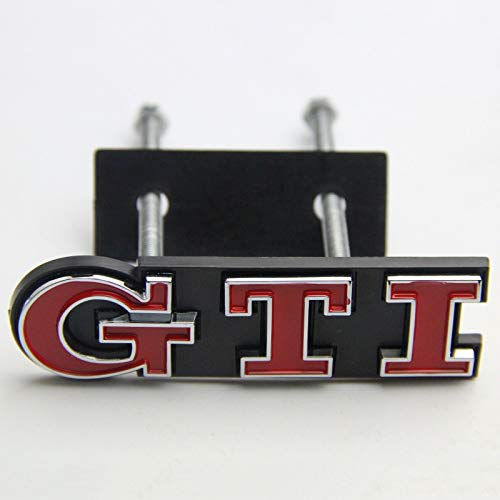 FidgetFidget Red GTI Badge Front Grille Grill Car Emblem Logo for VW Golf Polo Passat MK4 MK5