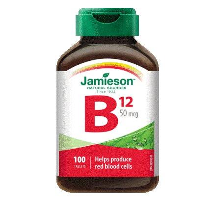 Vitamin B12 (Cobalamin) 50 mcg-100 tablets Brand: Jamieson Laboratories